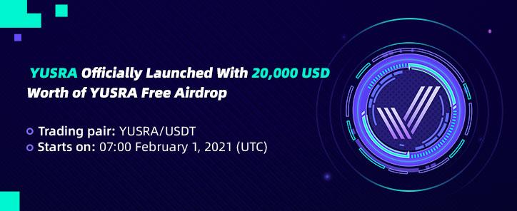YUSRA Launched: Deposit & Trade YUSRA to Share 20,000 USD Worth of YUSRA –  CoinEx Announcement